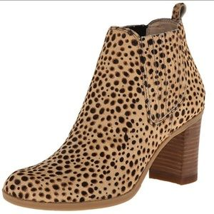 Dr. Scholl's London Leopard Pony Hair Ankle Boots